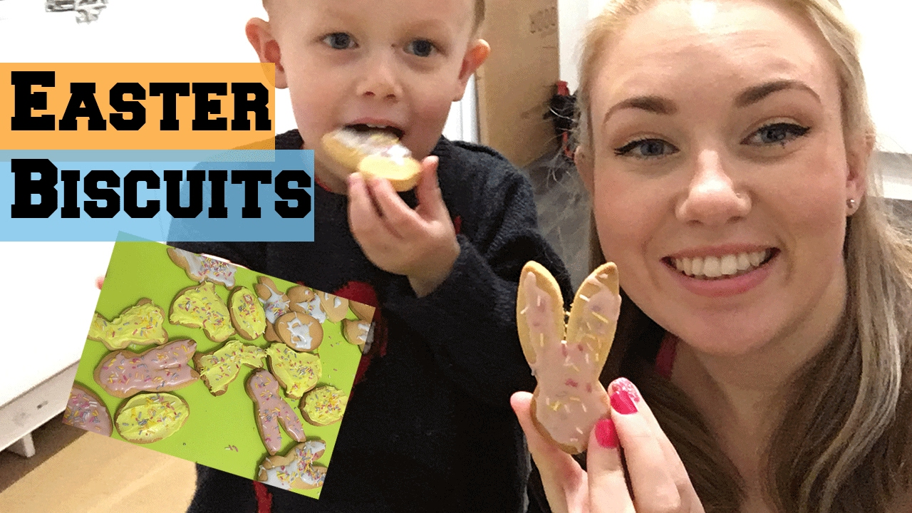 Baking With Kids - Easter Biscuits !