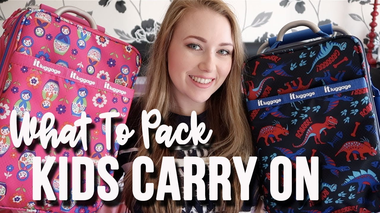 WHATS IN MY KIDS CARRY ON HAND LUGGAGE - 4 HOUR FLIGHT KIDS SNACKS AND ACTIVITIES - A CHILDMINDING M
