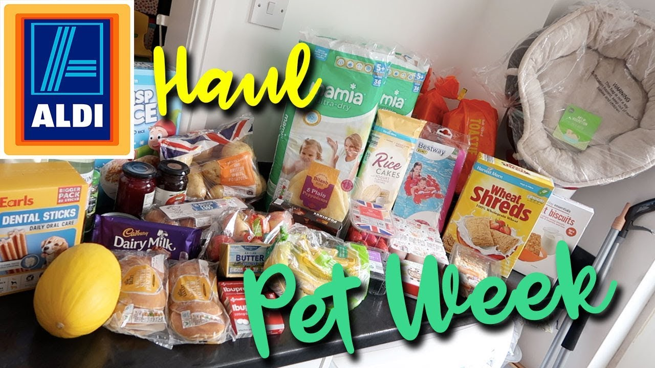 ALDI HAUL TOP UP SHOP - CHEAP GROCERY FAMILY OF 4 - PET SPECIAL BUYS - A CHILDMINDING MUMMY