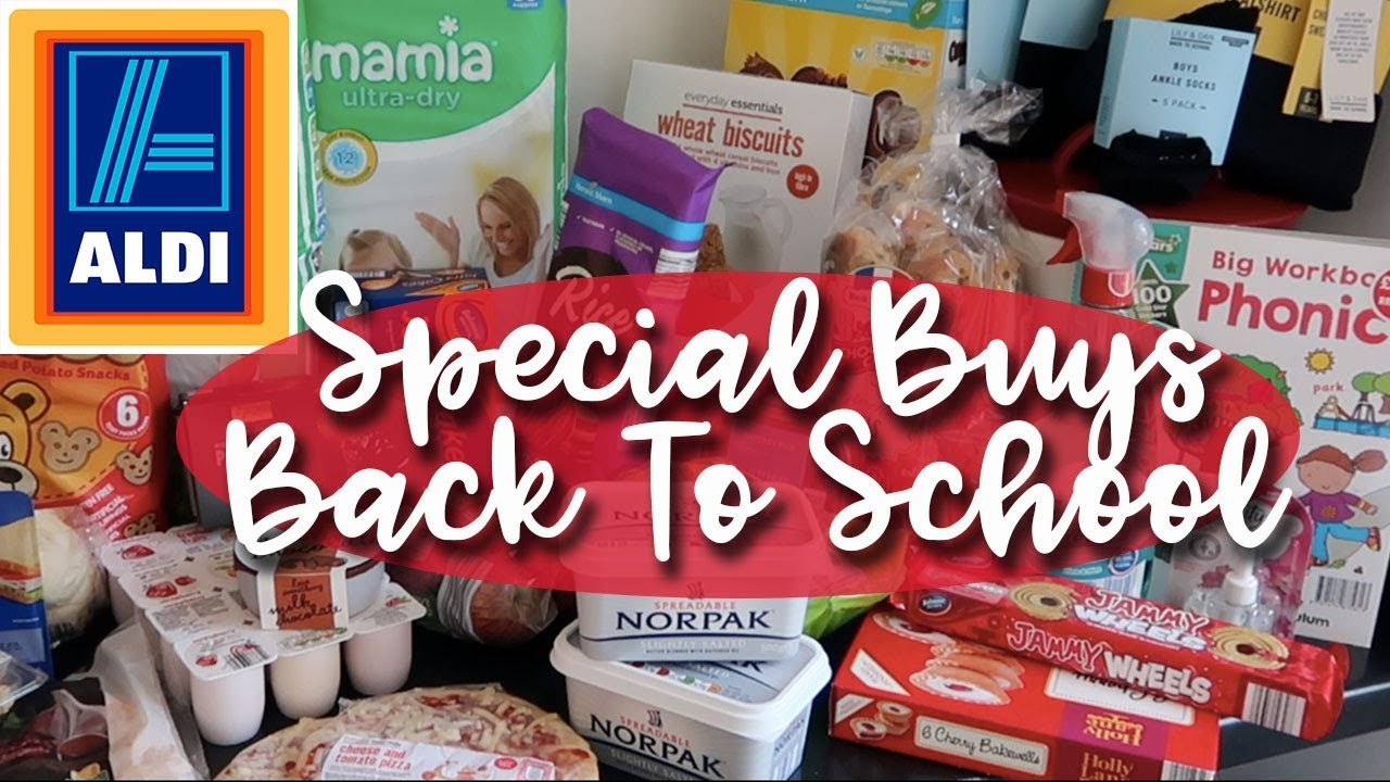 HUGE ALDI HAUL WITH BACK TO SCHOOL SPECIAL BUYS - A CHILDMINDING MUMMY