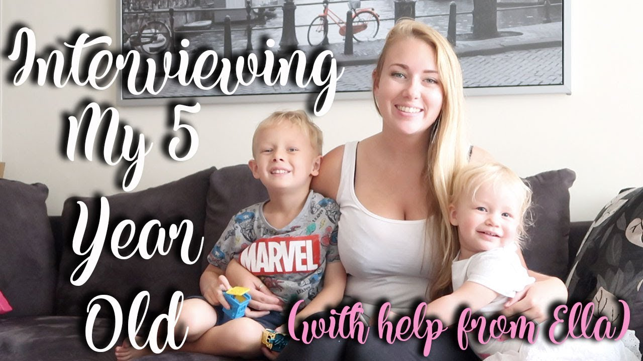 INTERVIEW WITH MY 5 YEAR OLD SON - WITH HELP FROM ELLA OF COURSE - LOTTE ROACH