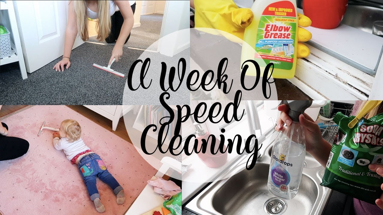 A WEEK OF SPEED CLEANING - THE FORGOTTEN JOBS - GETTING THE HOUSE CLEAN - LOTTE ROACH