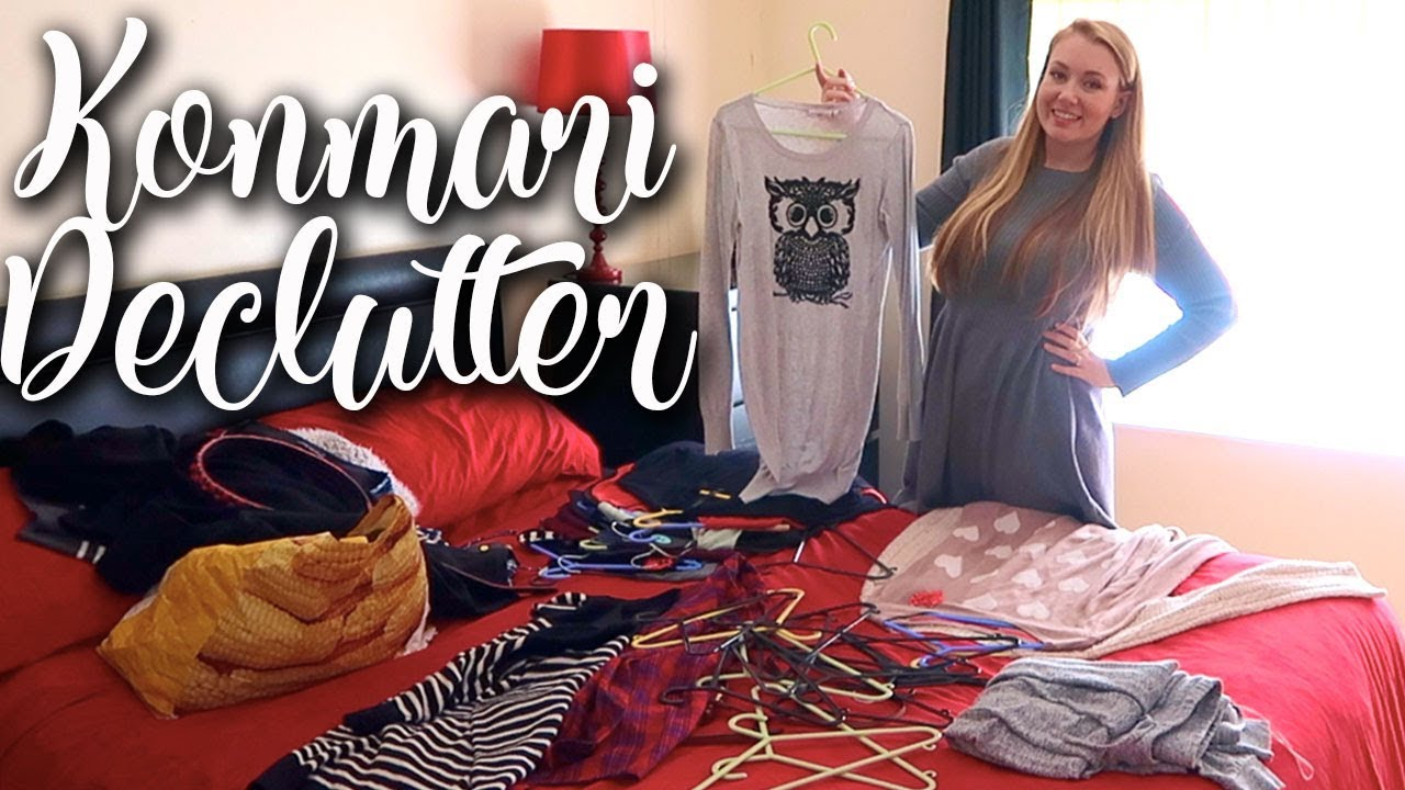 KONMARI DECLUTTER MY CLOTHES READY FOR WINTER - DECLUTTER MY CLOSET AND DRAWERS - LOTTE ROACH