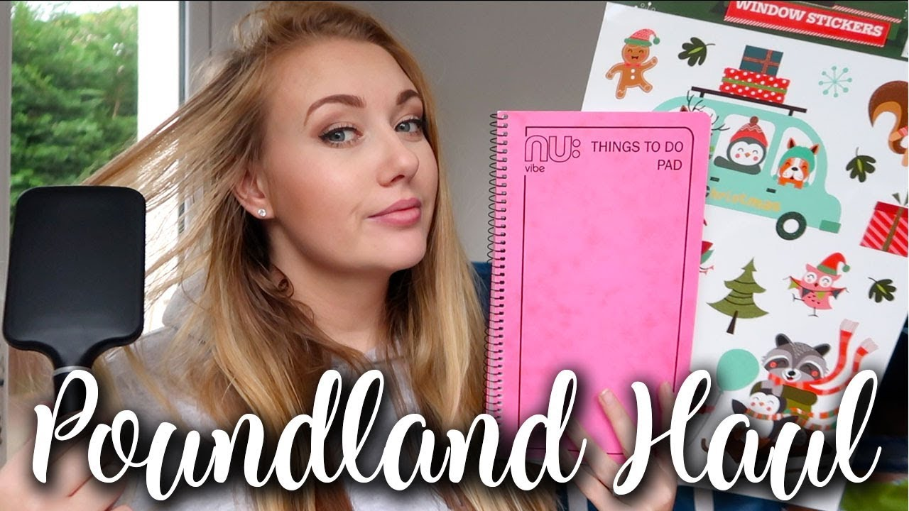 MY FIRST POUNDLAND HAUL - CHRISTMAS DECORATIONS, MRS HINCH CLEANING PRODUCTS NOV 2018 - LOTTE ROACH