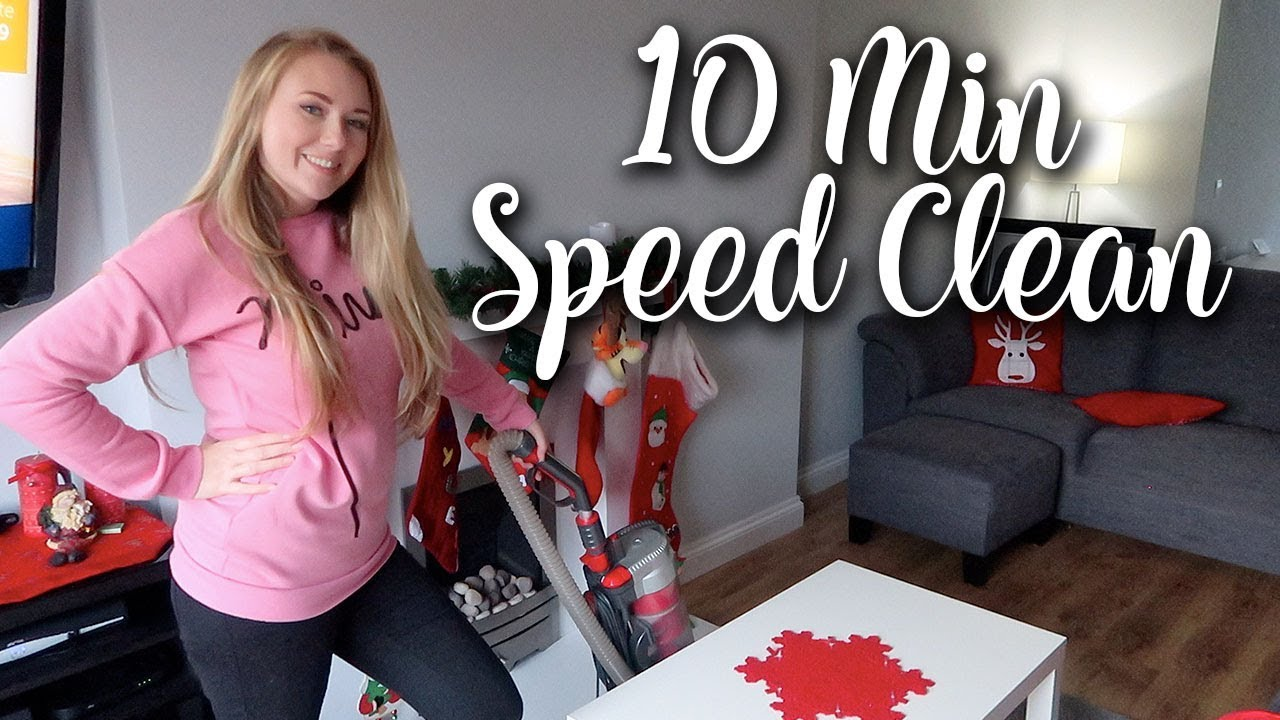 SPEED CLEANING 10 MINUTE CHALLENGE - CLEAN WITH ME DOWNSTAIRS - LOTTE ROACH