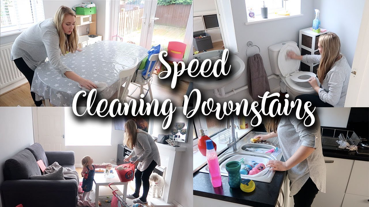 GET THE HOUSE SORTED AFTER HALF TERM - SPEED CLEANING THE DOWNSTAIRS - CLEAN WITH ME - LOTTE ROACH