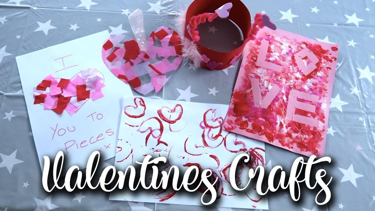 5 EASY AND QUICK VALENTINES DAY CRAFTS FOR ANY AGE - PAINTING, COLOURING AND GLUING - LOTTE ROACH