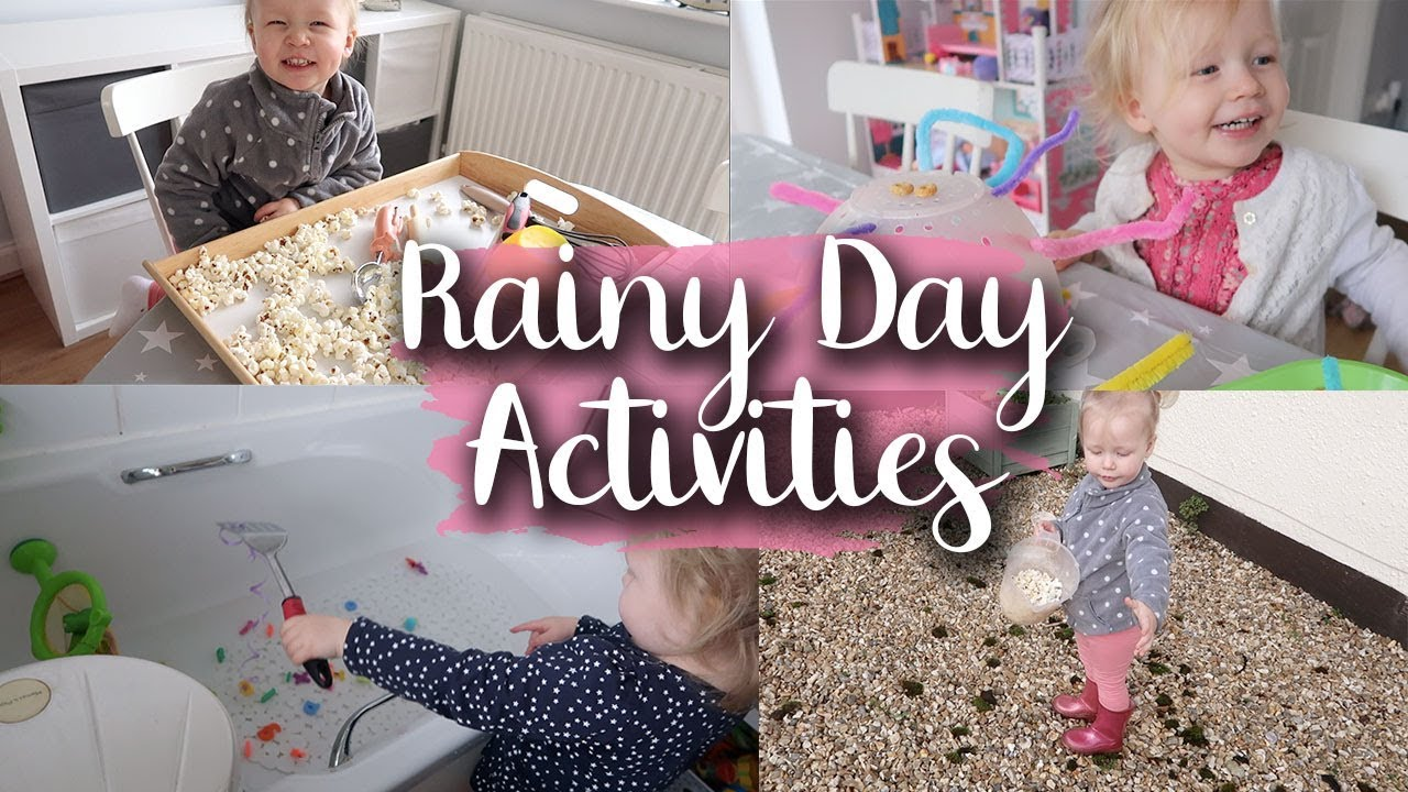 5 RAINY DAY ACTIVITIES - GREAT FOR BABIES, TODDLERS AND PRESCHOOLERS - LOTTE ROACH
