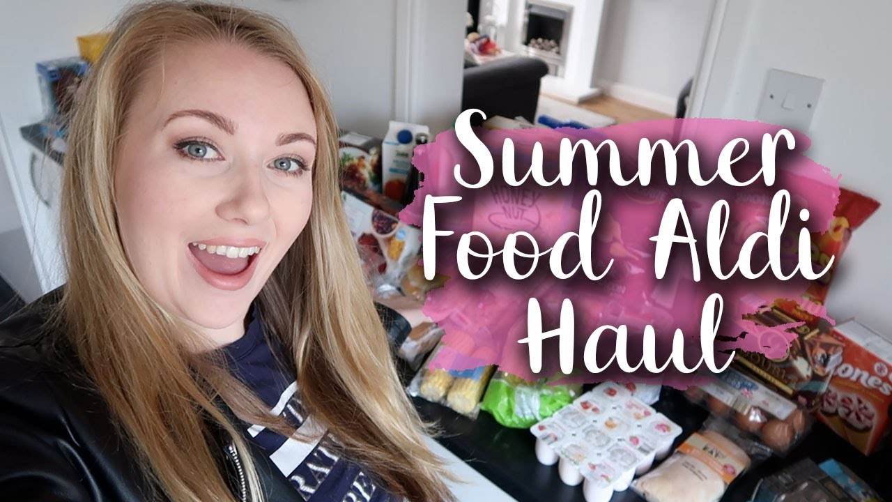 HUGE ALDI HAUL MEAL PLAN FOR THE WEEK - SUMMER BBQ FOOD - LOTTE ROACH