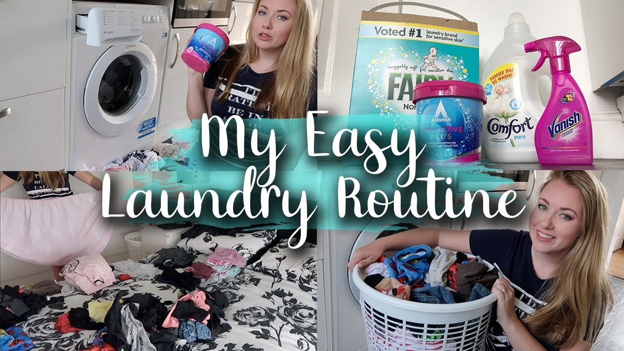 OUR WASHING ROUTINE - FAMILY OF 4 SUPER EASY LAUNDRY ROUTINE AND FAVOURITE PRODUCTS - LOTTE ROACH
