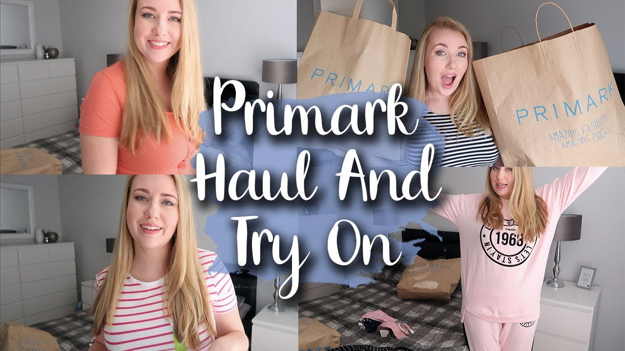 HUGE PRIMARK HAUL AND TRY ON - GETTING READY FOR SPRING/SUMMER - LOTTE ROACH