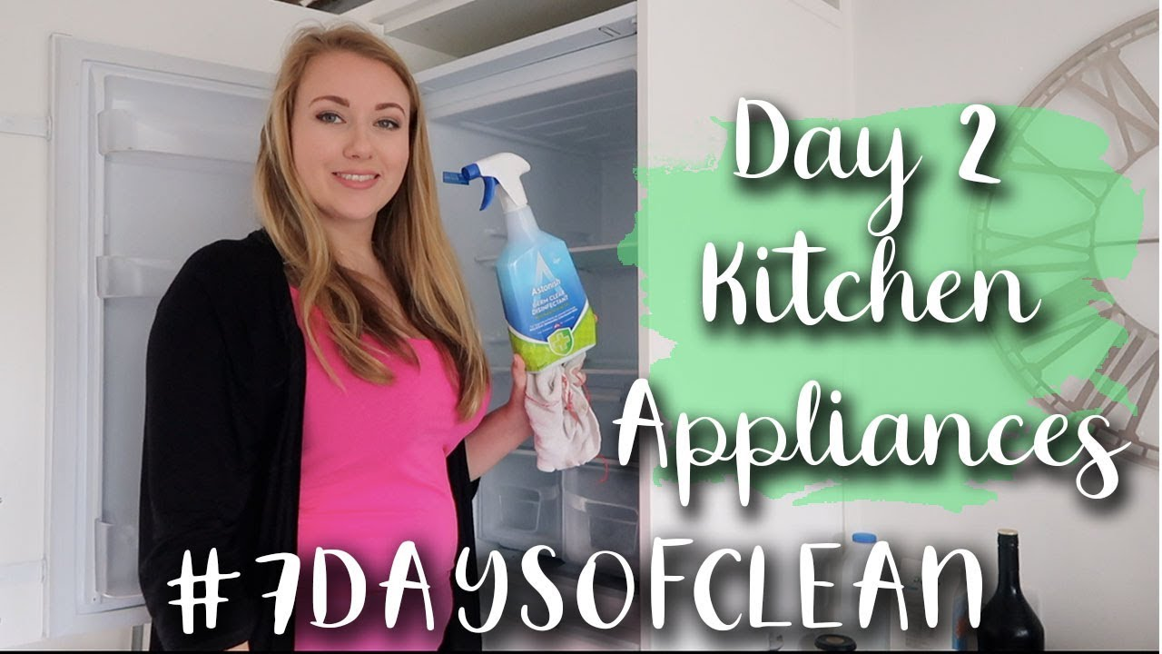 7 DAYS OF CLEAN - DAY 2 - #7DAYSOFCLEAN - KITCHEN APPLIANCES - CLEAN WITH ME - LOTTE ROACH