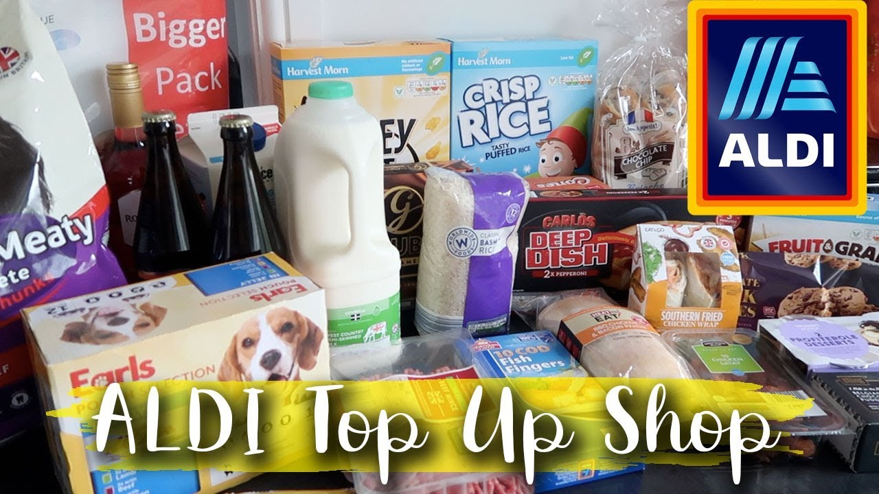 ALDI FOOD HAUL TOP UP SHOP - QUICK TOP UP SHOP TO GET US THROUGH TO NEXT WEEK - LOTTE ROACH