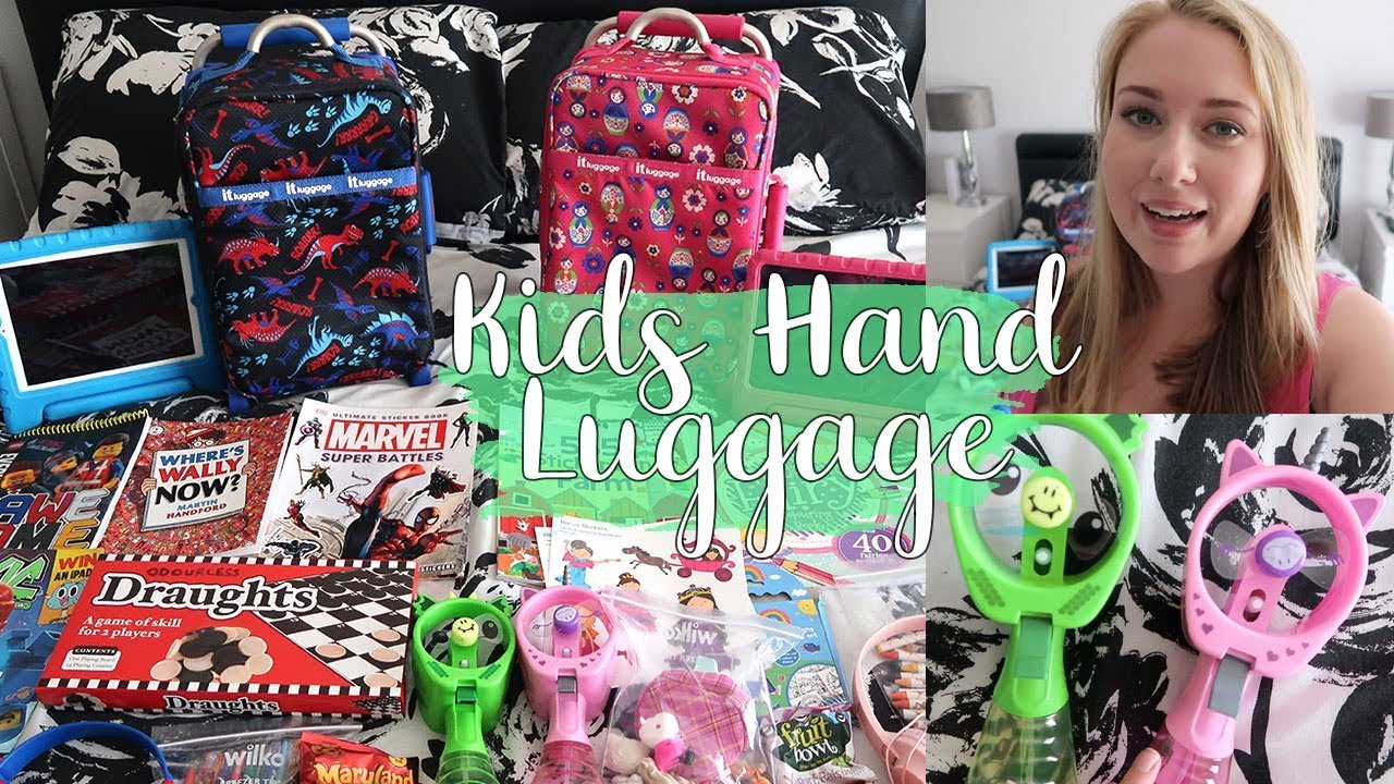 WHAT TO PACK FOR KIDS HAND LUGGAGE : GIRL AND BOYS SHORT HAUL PLANE BAGS - LOTTE ROACH