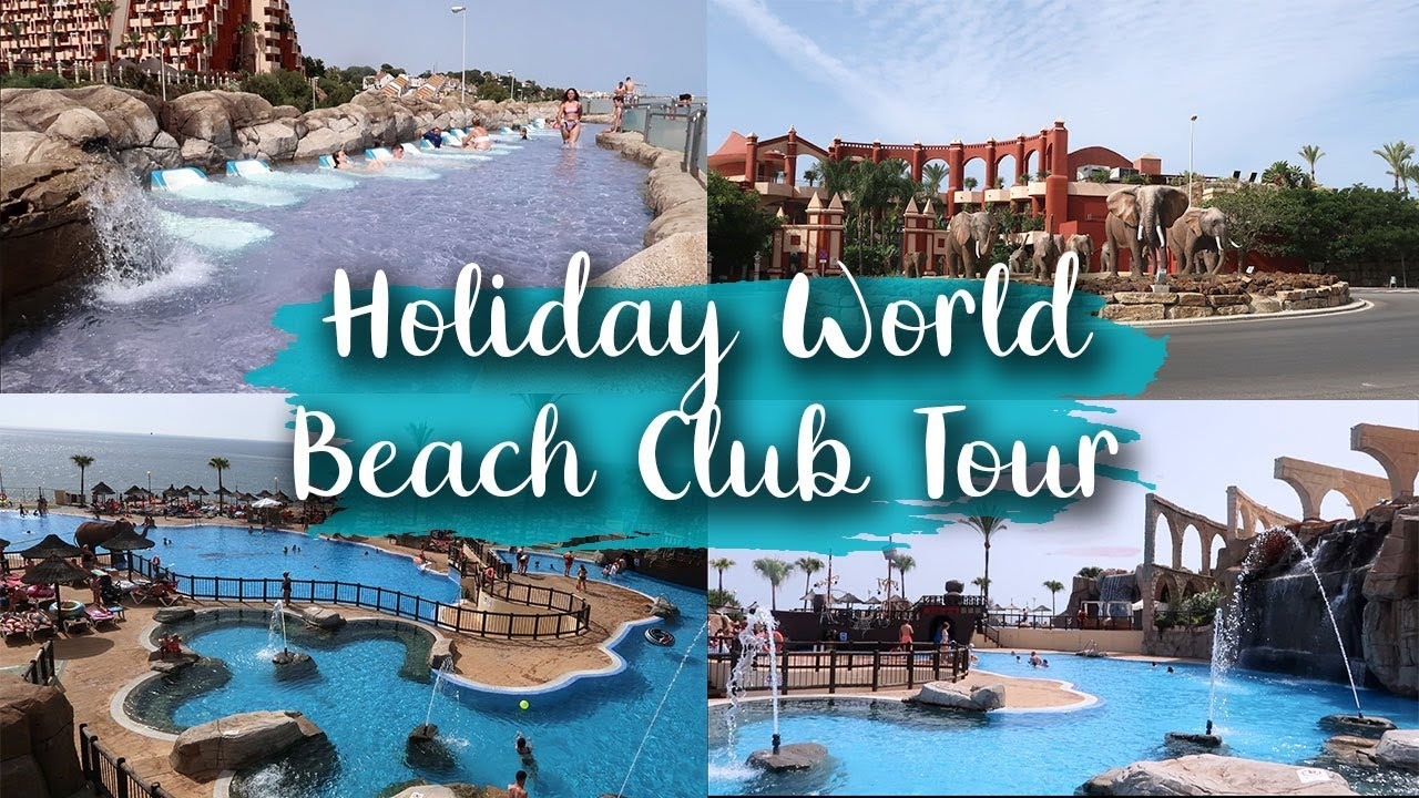 HOLIDAY WORLD BEACH CLUB TOUR - SLIDES, VIP, KIDS AREA AND RESTAURANT - LOTTE ROACH