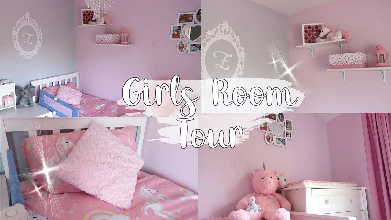 UNICORN PINK GIRLS ROOM TOUR - ELLAS PRETTY ROOM - LOTTE ROACH