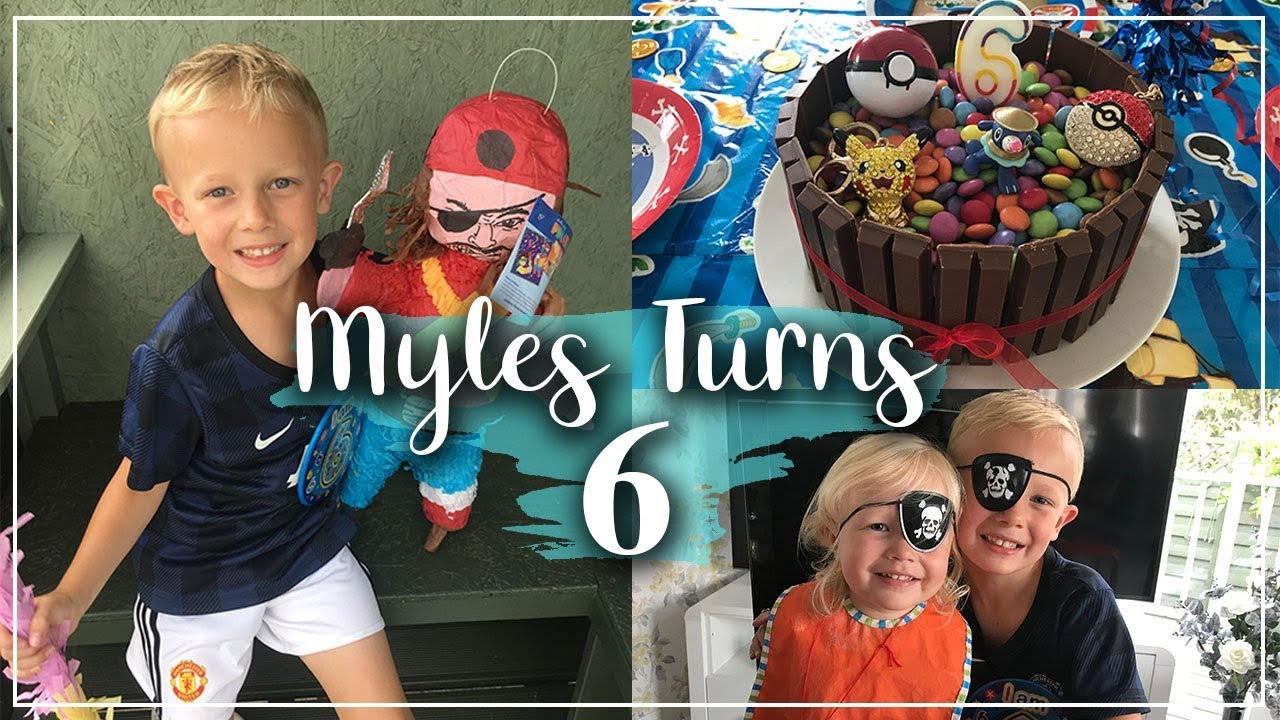 MYLES HAD A 2 WEEK BIRTHDAY !! PIRATE PARTY - FOOTBALL PARTY AND LOADS OF PRESENTS - LOTTE ROACH