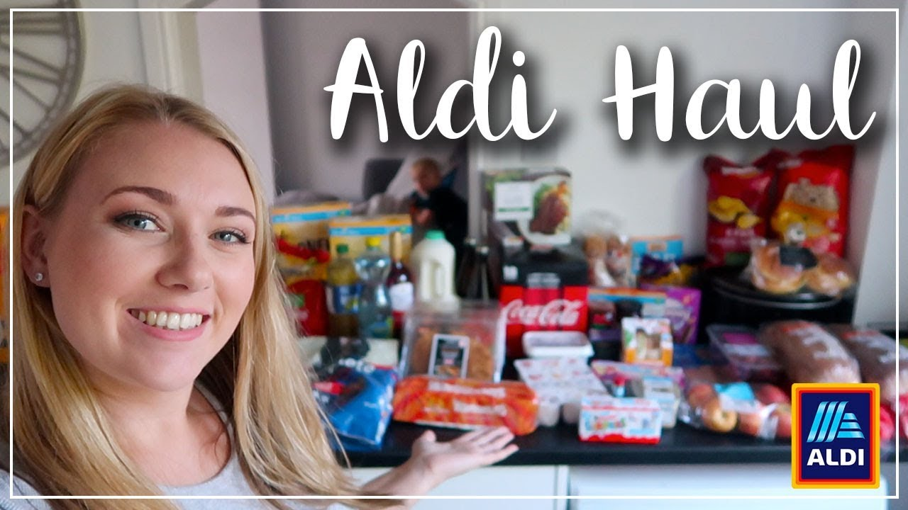 ALDI HAUL STOCKING THE CUPBOARDS FULL OF OUR FAVOURITES - HEALTHIER CHANGES - LOTTE ROACH