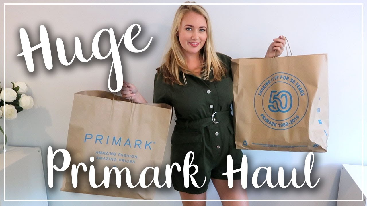 HUGE PRIMARK HAUL AND TRY ON - MY BIGGEST EVER PRIMARK HAUL - SIZE 14 OUTFITS AND DRESSES - LOTTE RO