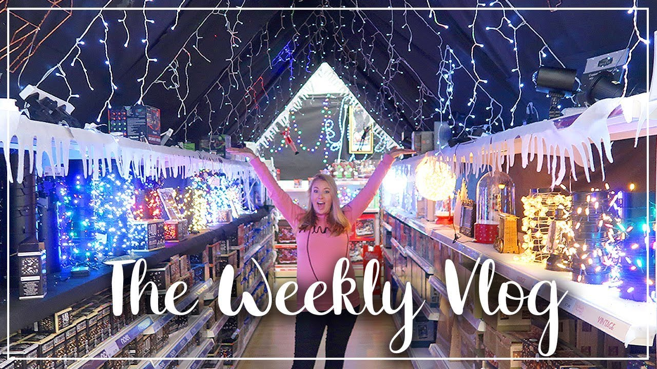 THE WEEKLY VLOG - MY BIRTHDAY !! LOTS OF SHOPPING AND GETTING THE TRAMPOLINE DOWN - LOTTE ROACH