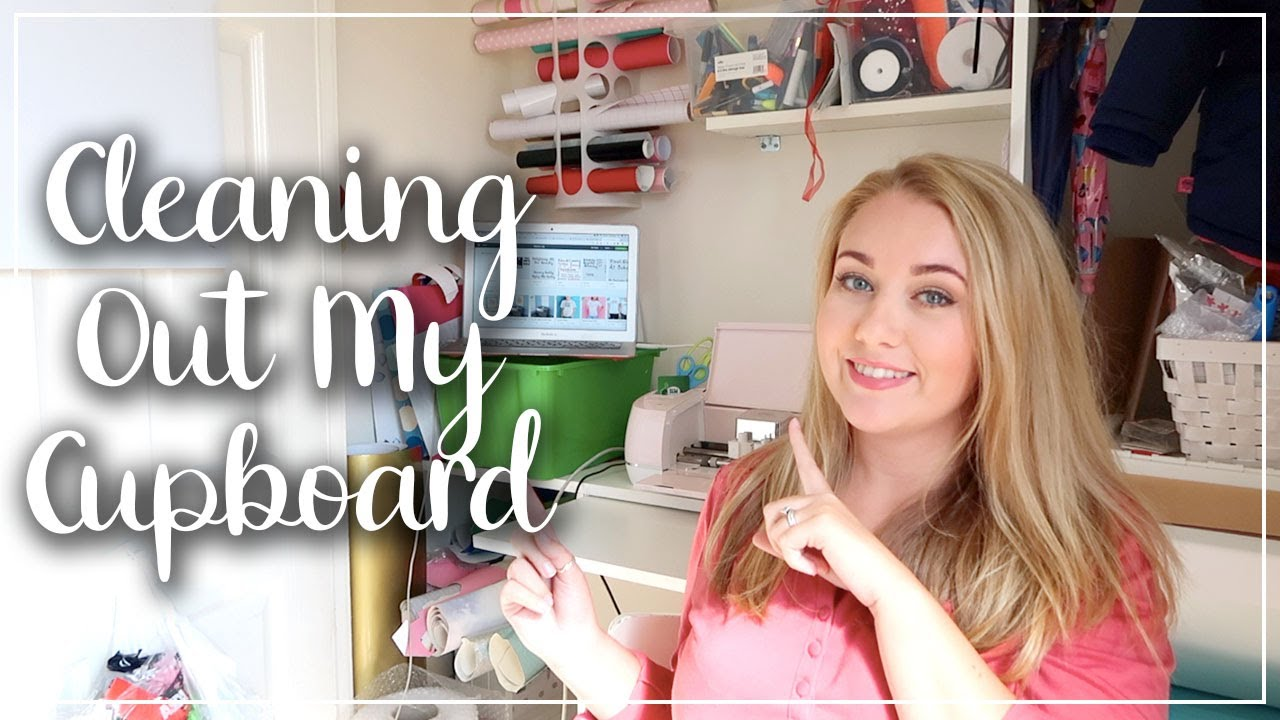 CREATING MY YOUTUBE BACKGROUND - SPEED CLEANING - CLEAN WITH ME CRAFT CUPBOARD - LOTTE ROACH