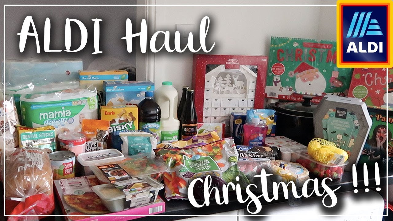 CHRISTMAS HAS STARTED IN THIS ALDI HAUL - TREATS AND BARGAINS - LOTTE ROACH