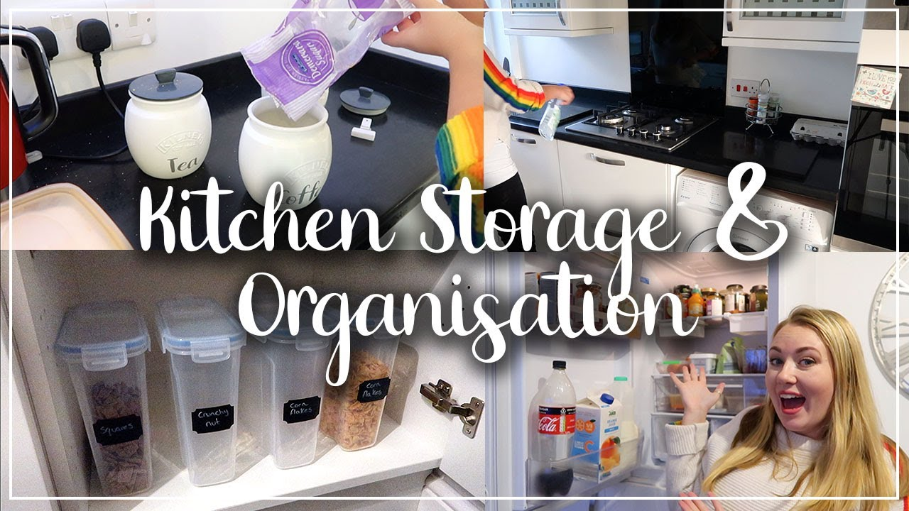 HUGE KITCHEN STORAGE & ORGANISATION IDEAS - SPEED CLEANING AND ORGANISE WITH ME - LOTTE ROACH