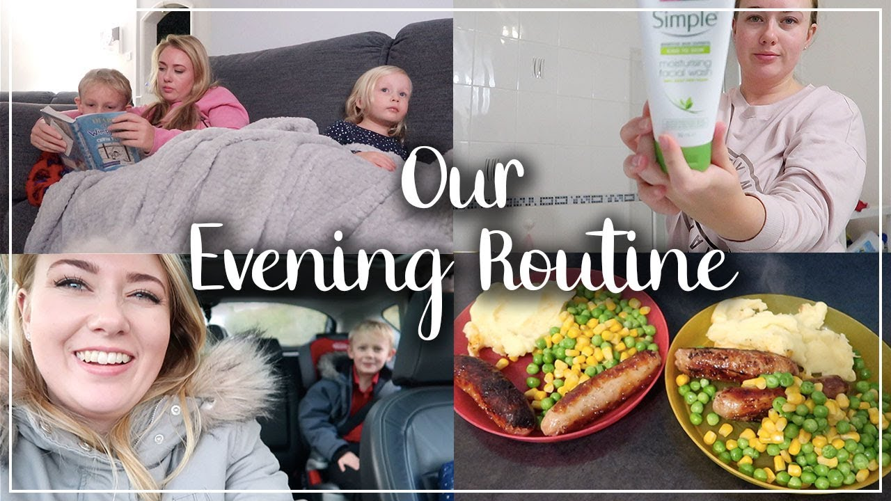 OUR EVENING ROUTINE MUM OF 2 - SWIMMING, DINNER, HOMEWORK, FACE CARE - LOTTE ROACH