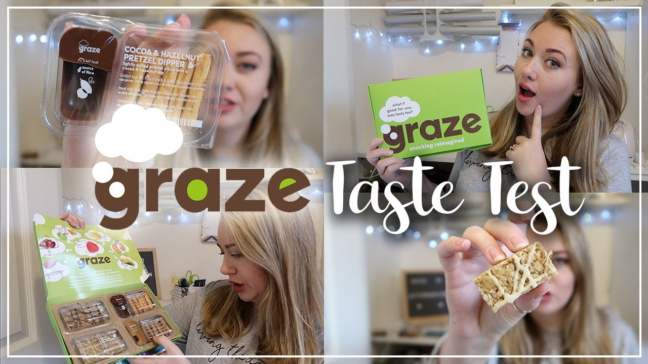 GRAZE SNACKS UNBOXING - FLAPJACKS AND DIPPERS TASTE TEST - LOTTE ROACH - FREE BOX VOUCHER CODE