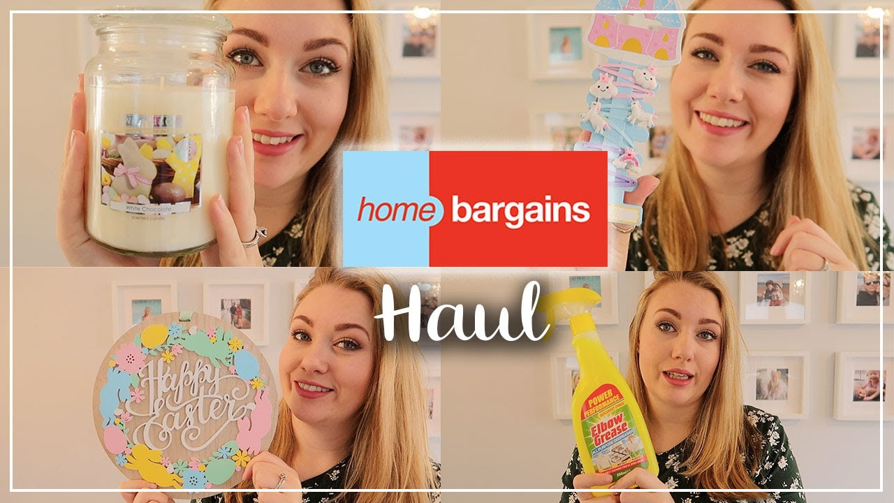 HOME BARGAINS HAUL  ll  FEBRUARY 2020 EASTER - MOTHERS DAY - CLEANING AND MORE  ll  LOTTE ROACH