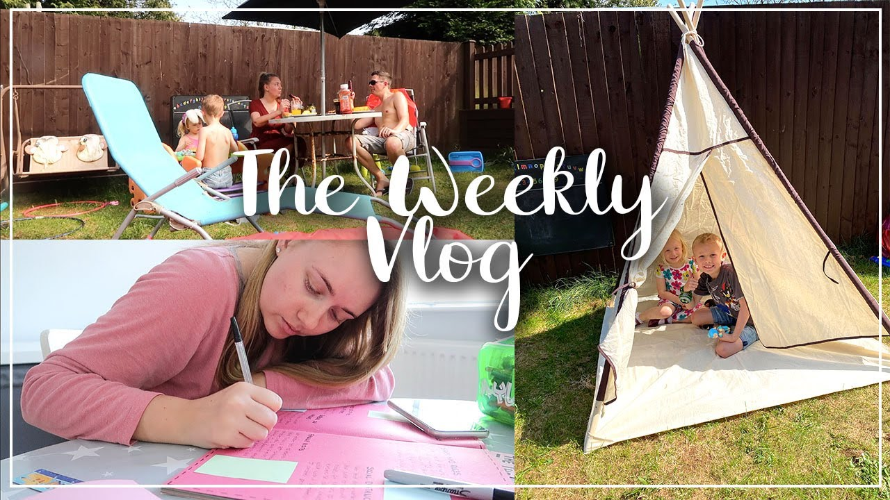 BBQS AND LOCKDOWN DIARY - BUILDING A TENT AND HUGE EASTER EGG HUNT - THE WEEKLY VLOG LOTTE ROACH