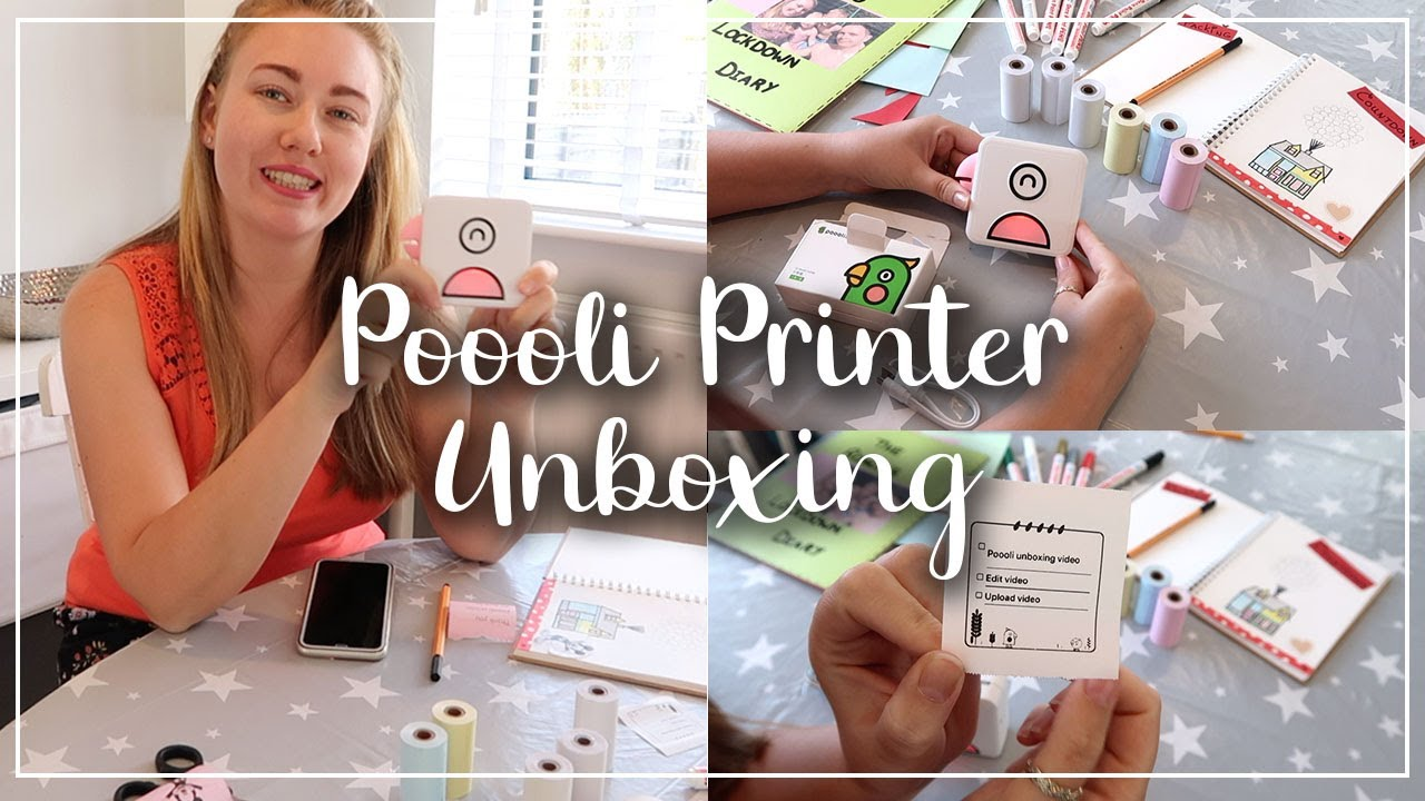 POOOLI PRINTER UNBOXING AND REVIEW - PORTABLE INKLESS PRINTER?? DOES IT WORK? LOTTE ROACH