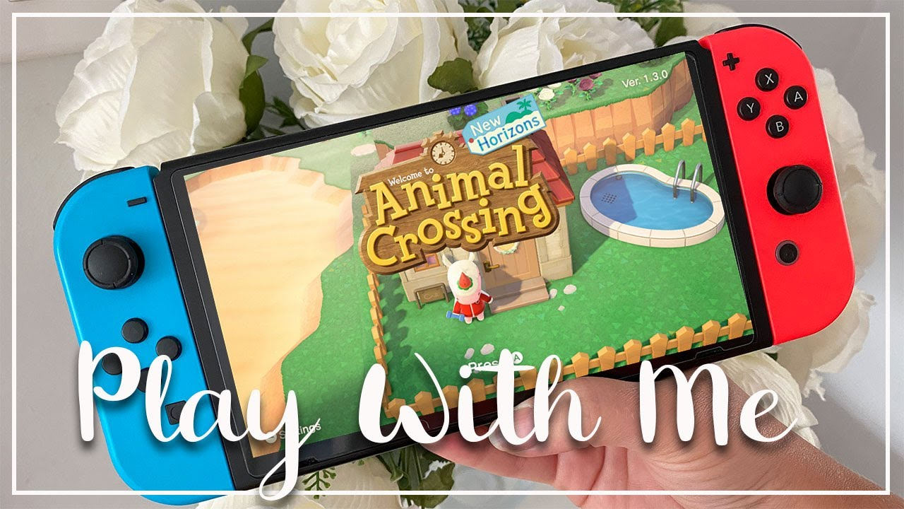 PLAY WITH ME ANIMAL CROSSING: NEW HORIZONS, ISLAND TOUR AND MEET VILLAGES PART 1 - LOTTE ROACH