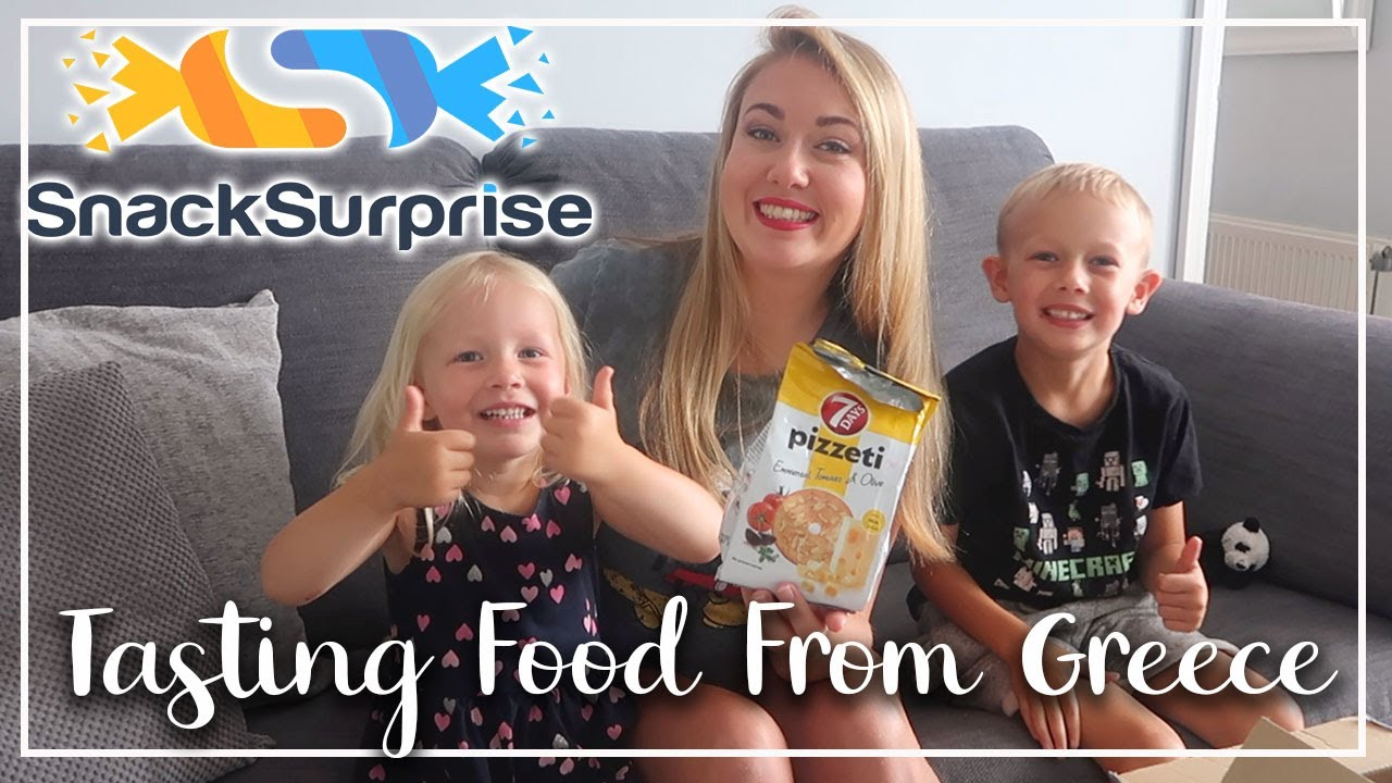 YUMMY GREEK SNACK SUBSCRIPTION BOX - TASTING FOODS FROM GREECE - LOTTE ROACH