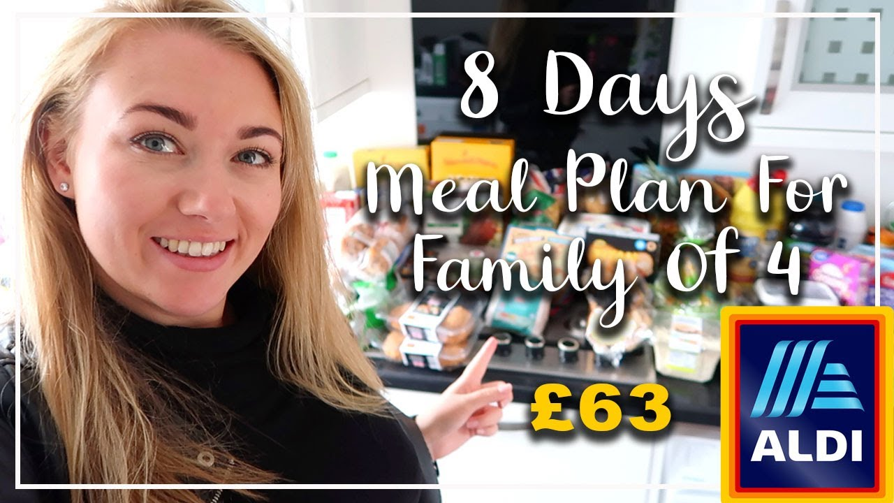 *NEW* AUTUMN ALDI FAMILY MEAL PLAN FOR A WEEK - OCTOBER 2020 - LOTTE ROACH