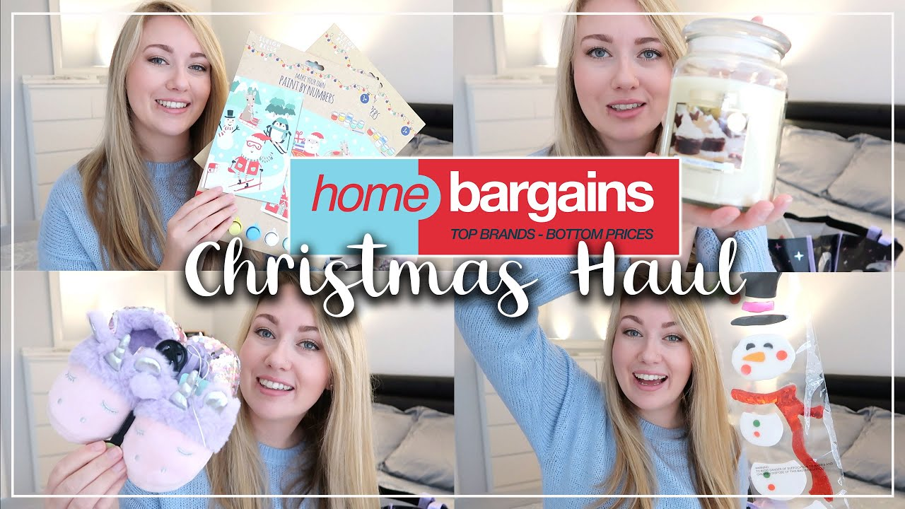 HOME BARGAINS CHRISTMAS HAUL - PRESENTS, CANDLES AND CLEANING PRODUCTS - LOTTE ROACH