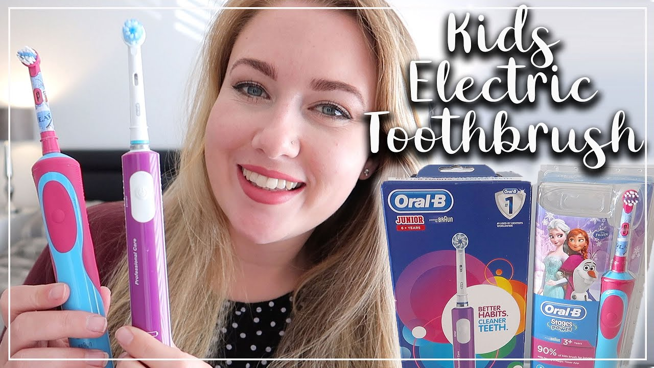 ORAL B JUNIOR AND ORAL B STAGES FROZEN ELECTRIC TOOTHBRUSH REVIEW AND TEST - LOTTE ROACH